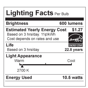 LED PAR30-Short 10 Watt - 75 Watt Equivalent Dimmable (6 Pack)