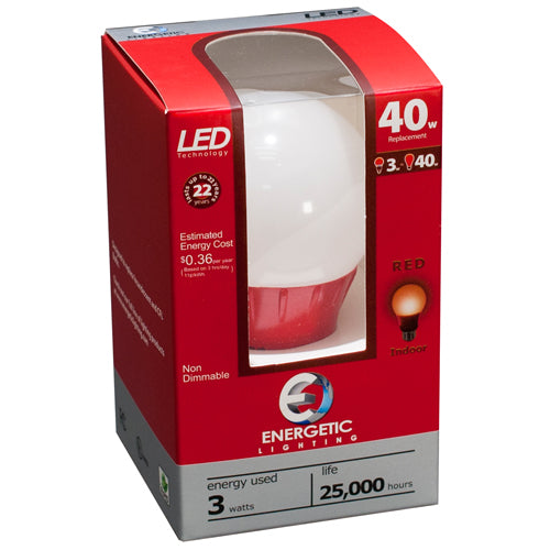 Colored 3 Watt LED Lamps - Case of (12)
