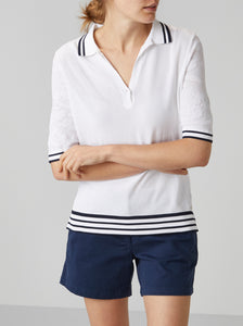 Aine Patterned Polo Knit