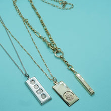 Load image into Gallery viewer, PAWNSHOP GOLD PLATED STERLING SILVER INGOT NECKLACE