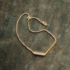 PAWNSHOP GOLD PLATED STERLING SILVER PAVE ANKLET