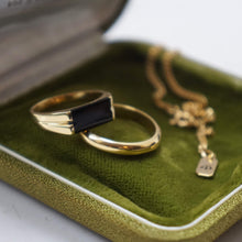 Load image into Gallery viewer, PAWNSHOP GOLD PLATED STERLING SILVER ONYX SIGNET RING