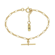 Load image into Gallery viewer, PAWNSHOP GOLD PLATED STERLING SILVER T BAR BRACELET