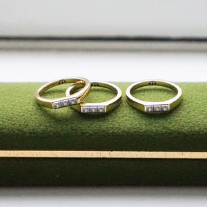 PAWNSHOP GOLD PLATED STERLING SILVER STONE SET RING