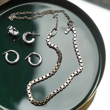 Load image into Gallery viewer, PAWNSHOP STERLING SILVER BOX CHAIN NECKLACE