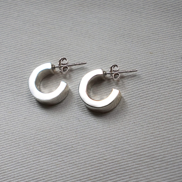 PAWNSHOP STERLING SILVER CHUNKY HOOP EARRINGS
