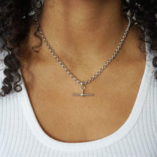 Load image into Gallery viewer, VINTAGE SILVER T-BAR CLASSIC BELCHER CHAIN NECKLACE