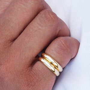 PAWNSHOP GOLD PLATED STERLING SILVER PINKY FINE BAND RING