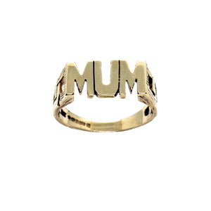 VINTAGE 9K GOLD 90'S MUM RING