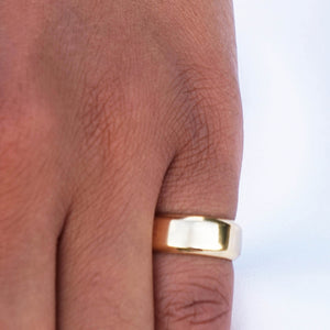 PAWNSHOP GOLD PLATED STERLING SILVER PINKY BAND RING