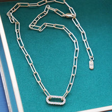 Load image into Gallery viewer, PAWNSHOP GOLD PLATED STERLING SILVER PAVE LINK NECKLACE