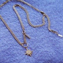 Load image into Gallery viewer, PAWNSHOP GOLD PLATED STERLING SILVER STARBURST CHARM NECKLACE