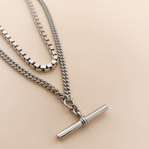 PAWNSHOP STERLING SILVER T BAR NECKLACE