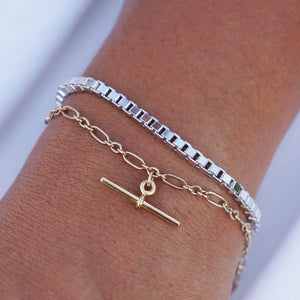 PAWNSHOP STERLING SILVER BOX CHAIN BRACELET
