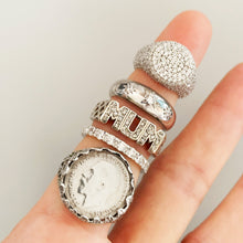 Load image into Gallery viewer, VINTAGE STERLING SILVER COIN RING
