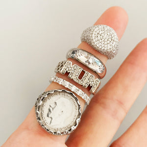 VINTAGE STERLING SILVER COIN RING