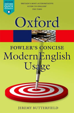 Fowler's Concise Dictionary of Modern English Usage-9780199666317