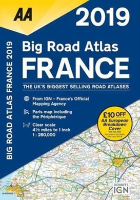 AA Big Road Atlas France-9780749579630
