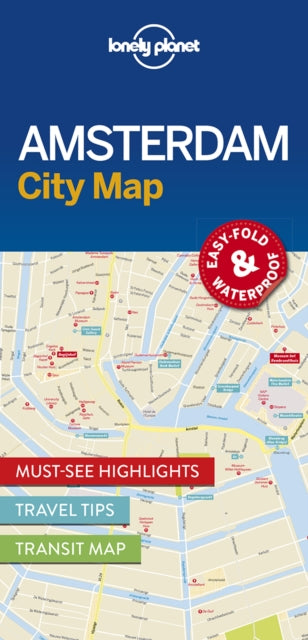 Lonely Planet Amsterdam City Map-9781786574091