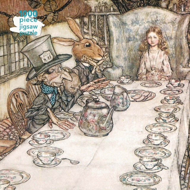 Adult Jigsaw Puzzle Arthur Rackham: Alice in Wonderland Tea Party : 1000-piece Jigsaw Puzzles-9781787552227