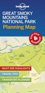 Lonely Planet Great Smoky Mountains National Park Planning Map-9781788685955