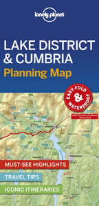 Lonely Planet Lake District & Cumbria Planning Map-9781788685962