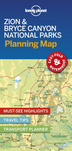 Lonely Planet Zion & Bryce Canyon National Parks Planning Map-9781788686167