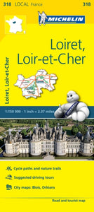 Loiret, Loir-et-Cher, France Local Map 318-9782067210240