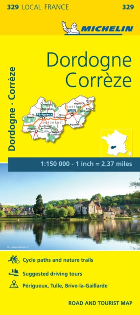 Correze, Dordogne, France Local Map 329-9782067210462
