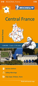 Centre Map 518 : Michelin Regional Maps: France-9782067211827