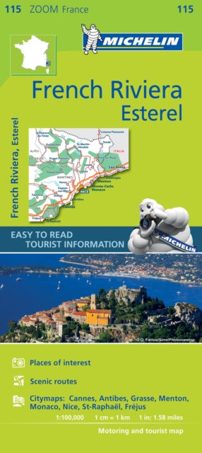 French Riviera, Esterel Zoom Map 115-9782067217805