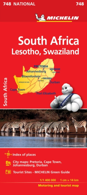 South Africa- Michelin National Map 748-9782067229013