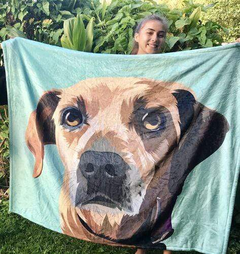 Custom Dog Blankets Personalized Photo Pet Blankets