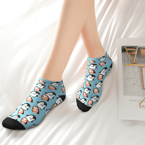 Customized Cute Penguin Ankle Socks