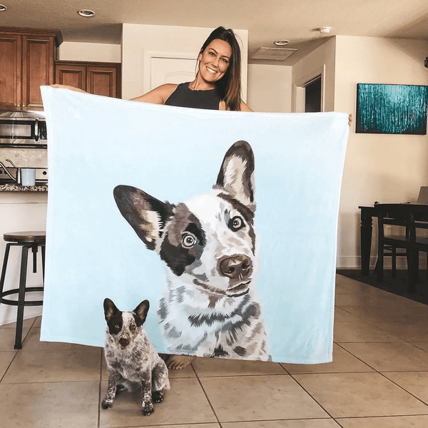Custom Photo Fleece Blanket Art Portrait Blanket