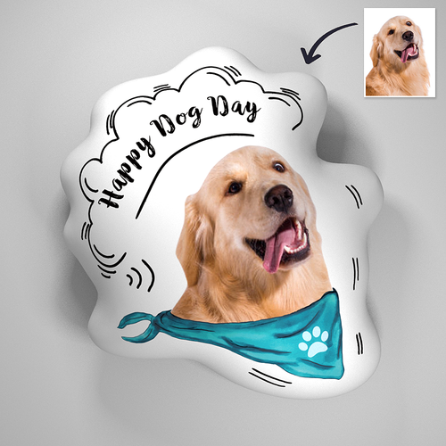 Custom Designed Lovely Pet 3D Portrait Throw Pillows