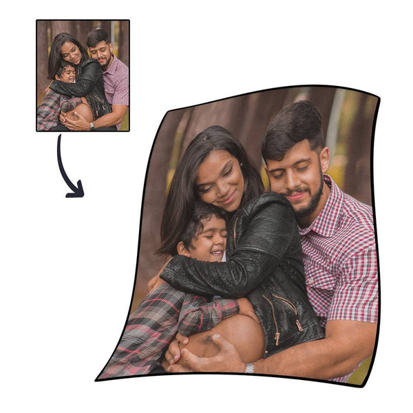 Personalized Photo Blanket Fleece - Famliy
