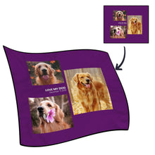 Personalized Famliy Photo Fleece Blanket with Text - 3 Photos