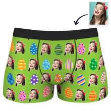 Men's Color Easter Egg Customizedize Face Boxer Shorts