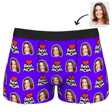 Men's Best Mom Customized Face Boxer Shorts