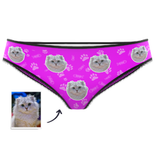 Women's Color Custom Face Panties-Polka Dot