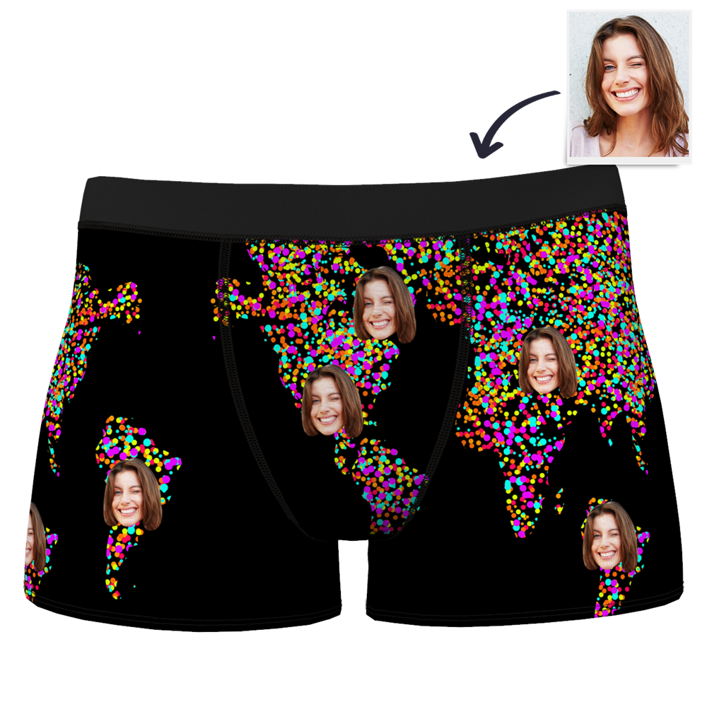 Men's Custom Girlfriend Smiley Boxer Shorts