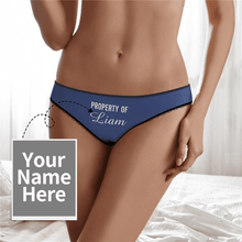 Couple Plain Women's Custom Name Property of Colorful Panties