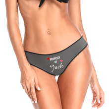 Couple Plain Women's Custom Name Property of Colorful Panties - heart