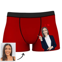 Men's Custom Face Boxer Shorts - Love From Girlfriend