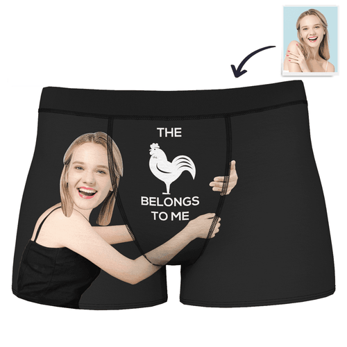 Men's Custom Girlfriends Love Hug Boxer Shorts