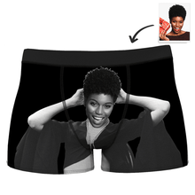 Men's Custom Muscle Girlfriend Face Boxer Briefs