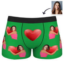 Men's Heart Hug Custom Face Boxer Shorts
