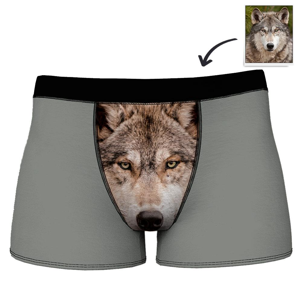 Custom Boxer Shorts for Men with Photo of Your Pet