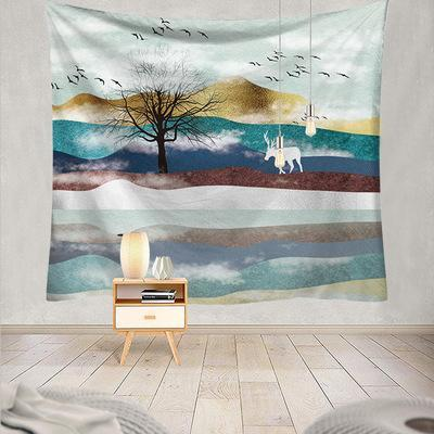 Mountain Sunset Tapestry, Wall Decor Hanging Tapestry